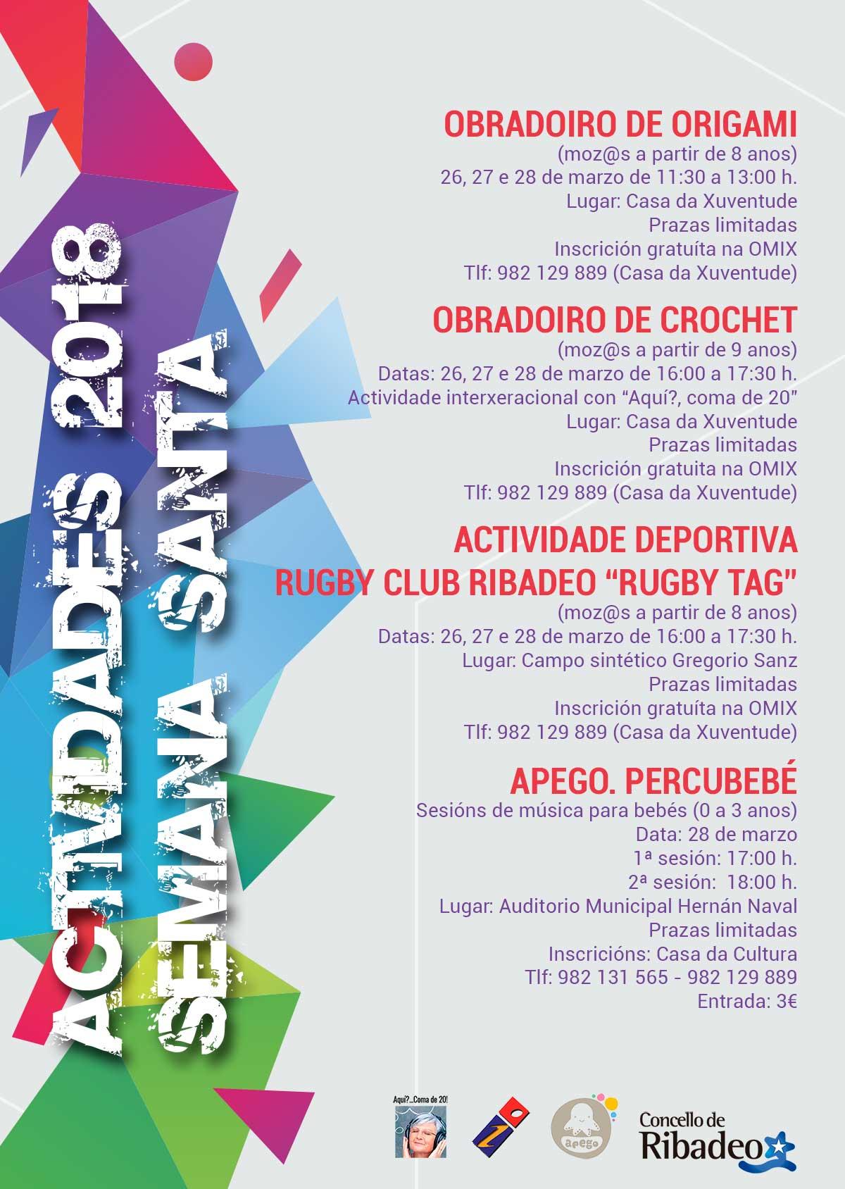 Actividades Semana Santa OMIX Ribadeo 2018