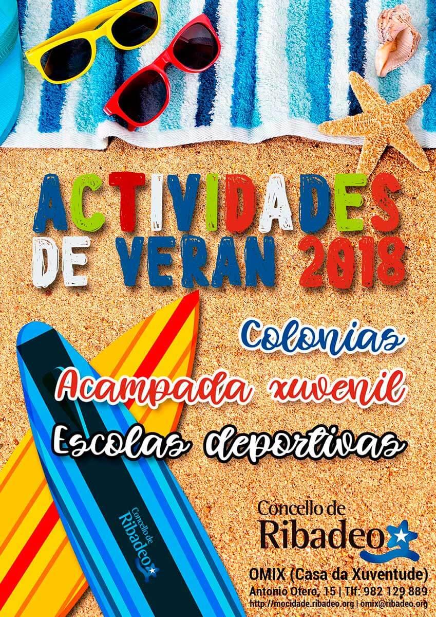 Actividades verán 2018 Concello de Ribadeo