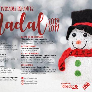 Actividades infantís Nadal 2018 – 2019